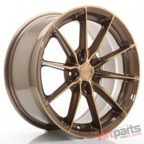 JR Wheels JR37 17x8 ET20-40 5H BLANK Platinum Bronze JR3717805X2072BZP