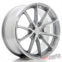 JR Wheels JR37 18x8 ET20-45 5H BLANK Silver Machined Face - JR3718805X2072SM