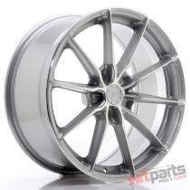 JR Wheels JR37 19x8,  5 ET20-45 5H BLANK Silver Machined Face - JR3719855X2072SM