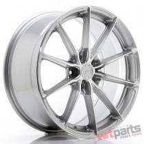 JR Wheels JR37 19x8,  5 ET45 5x112 Silver Machined Face - JR3719855L4566SM