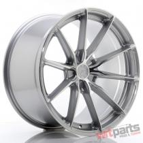 JR Wheels JR37 20x10,  5 ET20-40 5H BLANK Silver Machined Face - JR37201055X2072SM