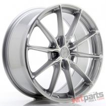 JR Wheels JR37 20x8,  5 ET20-45 5H BLANK Silver Machined Face - JR3720855X2072SM