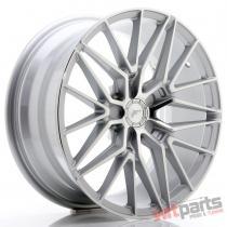 JR Wheels JR38 18x8 ET20-42 5H BLANK Silver Machined Face - JR3818805X2072SM
