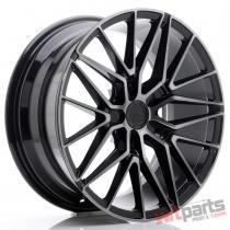 JR Wheels JR38 18x8 ET35-42 5H BLANK Black Brushed w/Tinted Face - JR3818805X3572GBBF