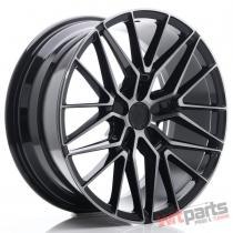 JR Wheels JR38 19x8,  5 ET20-45 5H BLANK Black Brushed w/Tinted Face - JR3819855X2072GBBF