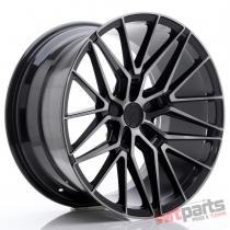 JR Wheels JR38 20x10,  5 ET20-45 5H BLANK Black Brushed w/Tinted Face - JR38201055X2072GBBF