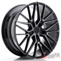 JR Wheels JR38 20x8,  5 ET20-45 5H BLANK Black Brushed w/Tinted Face - JR3820855X2072GBBF