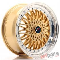 JR Wheels JR9 17x7,  5 ET35 4x100/114 Gold w/Machined Lip JR9177543574GD