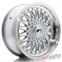 JR Wheels JR9 17x7,  5 ET35 5x112/120 Silver w/Machined Lip JR9177593574S
