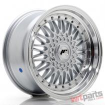JR Wheels JR9 17x8,  5 ET20-35 BLANK Silver w/Machined Lip+Silver Rivets JR91785XX2074SS