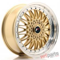 JR Wheels JR9 18x8 ET35 5x100/120 Gold w/Machined Lip JR91880MZ3574GD