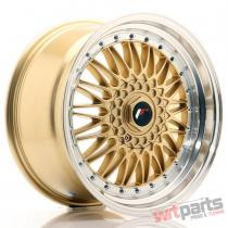 JR Wheels JR9 18x9 ET20-40 BLANK Gold w/Machined Lip JR91890XX2074GD