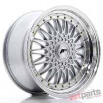 JR Wheels JR9 18x9 ET20-40 BLANK Silver w/Machined Lip JR91890XX2074S