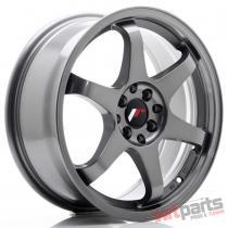 JR Wheels JR3 17x7 ET40 5x100/114 Gun Metal - JR3177054073GM