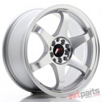 JR Wheels JR3 17x8 ET35 5x100/114 Matt Silver Machined Face - JR3178053573MSM