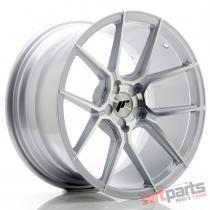 JR Wheels JR30 18x9,  5 ET20-40 5H BLANK Silver Machined Face - JR3018955X2074SM