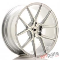 JR Wheels JR30 19x8,  5 ET20-42 5H BLANK Silver Machined Face JR3019855X2074SM