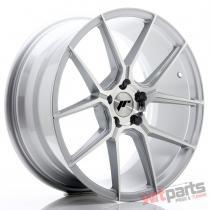 JR Wheels JR30 19x8,  5 ET35 5x120 Silver Machined Face JR3019855I3572SM