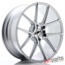 JR Wheels JR30 20x8,  5 ET20-40 5H BLANK Silver Machined Face JR3020855X2074SM