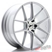 JR Wheels JR30 20x8,  5 ET40 5x112 Silver Machined Face - JR3020855L4066SM