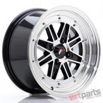 JR Wheels JR31 15x7.5 ET20 4x100 Gloss Black w/Machined Lip - JR3115754H2073GBM