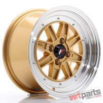 JR Wheels JR31 15x7.5 ET20 4x100 Gold w/Machined Lip - JR3115754H2073GDL