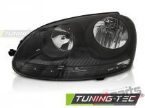 HEADLIGHTS BLACK LEFT SIDE TYC fits VW GOLF 5 10.03-09 FVW45L