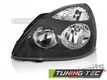 HEADLIGHTS BLACK LEFT SIDE TYC fits RENAULT CLIO II 06.01-09 FRE01L