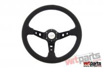 Steering wheel Pro 350mm offset:80mm Leather Black - PP-KR-019
