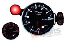 DEPO PK series gauge 95mm Rev counter 8000 Diesel DP-ZE-051