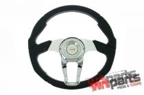 Steering wheel Pro 350mm offset:0mm Leather Black - PP-KR-027
