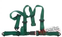 "Racing seat belts 3p 2"" Green - E4 - JB-PA-010"
