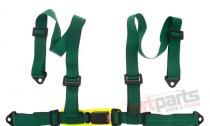 "Racing seat belts 4p 2"" Green - E4 JB-PA-011"