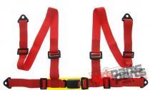 """Racing seat belts 4p 2"""" Red - E4 - JB-PA-014"""