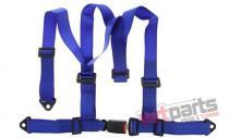 """Racing seat belts 3p 2"""" Blue - E4 JB-PA-009"""