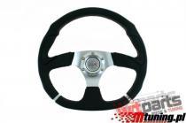Steering wheel Pro 350mm offset:0mm Leather Black - PP-KR-028