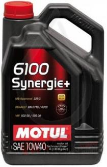 Motul 6100 Synergie + 10W40 4L Oil SYN10W404L