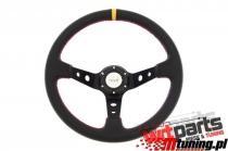 Steering wheel Pro 350mm offset:80mm Leather Black PP-KR-020