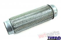 """Exhaust flex pipe 2x10"""""""" stainless TW-TL-204"""