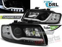 AUDI A4 10.00-10.04 TUBE LIGHTS BLACK TRU DRL LPAUB3