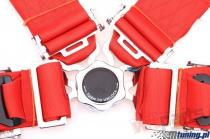 """Racing seat belts 4p 3"""" Red - Runner PP-PS-011"""