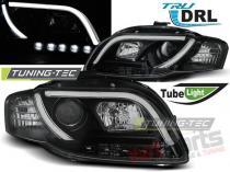 AUDI A4 B7 11.04-03.08 TUBE LIGHTS BLACK TRU DRL LPAUB5