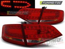 AUDI A4 B8 08-11 SEDAN RED WHITE LED - LDAU87
