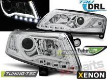 AUDI A6 C6 04-08 XENON TUBE LIGHTS TRU DRL CHROME LPAUC0