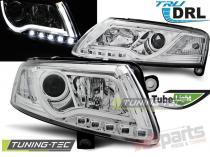 AUDI A6 C6 04.04-08 LED TUBE LIGHTS TRUE DRL CHROME LPAUC7