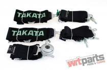 """Racing seat belts 6p 3"""" Black - Takata Replica harness JB-PA-027"""