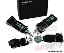 """Racing seat belts 4p 3"""" Black - Takata Replica JB-PA-024"""