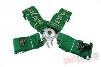 """Racing seat belts 4p 3"""" Green - Takata Replica harness JB-PA-021"""