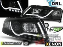 AUDI A6 C6 04-08 XENON TUBE LIGHTS TRU DRL BLACK LPAUC1