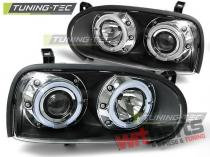 Projector headlights with dual halo rims LPVW10